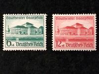 Deutsches Reich 1938 - MiNr. 673 - 674  Eröffnung des Gautheaters Saarpfalz.