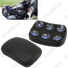 Passenger Rectangle Seat 6 Suction Cup For Harley Softail Dyna Sportster Custom