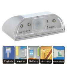 Détecteur de Mouvement Lumière Lampe 4 LED / Veilleuse Murale Porte Serrure