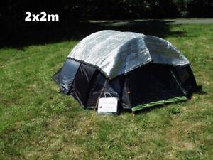 Aluminium Schattennetz Sonnenschutz 2x2 3x4 4x6 m Hund Terasse Auto Wohnmobil