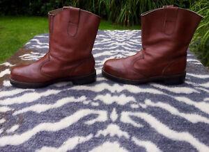 Vintage Brown Leather Oil & Heat Resistant Boots size 9 EU 43