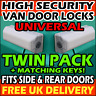 WHITE UNIVERSAL Van Rear & Side Loading Sliding Door High Security Locks Set Kit