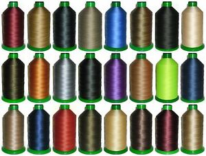 STRONG BONDED NYLON THREAD 20'S, 1500MTRS, SOMABOND THREADS, ASSORTED COLOURS