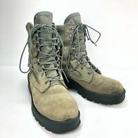 Wellco USA Air Force TW Green Suede Lace Up Women Military Combat Boots Sz 8.5RF