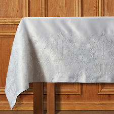 White Embroidered Coronation Altar Frontal