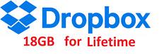 Vida de servicio de actualización de espacio en Dropbox 18GB
