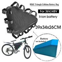Waterproof 36V / 48V Mountain Bike Triangle Li-ion 18650 Battery Storage Bag