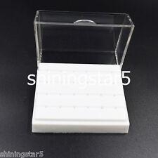 24 Holes Box Case Dental Diamond High Speed Handpiece Bur Burs Drill Holder
