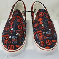 (LUP) Deadpool Classic Slip-On Sneakers