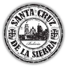 "Santa Cruz City Bolivia Grunge Travel Stamp Car Bumper Sticker Decal 5"" x 5"""