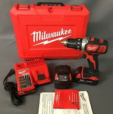 "Milwaukee M18 18V 1/2"" Cordless Drill Driver Kit w/XC Battery 2606-22CX [A]"
