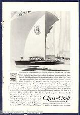1930 CHRIS-CRAFT advertisement, 26-ft De Luxe Sedan Chris Craft wooden motorboat