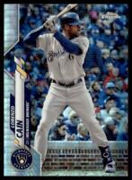 2020 Topps Chrome Base Prizm Refractor #153 Lorenzo Cain - Milwaukee Brewers