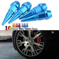 4PCS Car Bike Wheel Tire Tyre Air Valve Caps Stem Cover Accessories Navy Blue