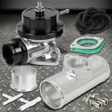"UNIVERSAL BILLET ALUMINUM TYPE-S TURBO BLOW OFF VALVE BOV+2.5"" FLANGE PIPE BLACK"
