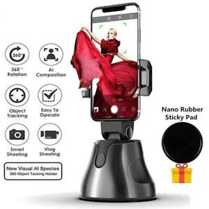 Smart Portable Selfie Stick,360°Rotation Auto Face Object Tracking Phone Mount