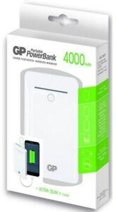 GP 4000mAh Power-Bank Externer Zusatz-Akku USB Ladegerät Batterie Handy Tablet