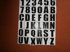 7 AUTO ADHESIVO/PEGAR EN VINILO Número De Matrícula Letras/números/Negro