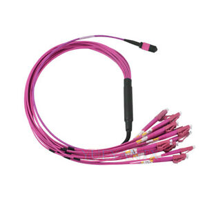 10M MTP/MPO OM4 Female to 24 Cores LC UPC Multi-Mode Breakout Patch Cable Type A