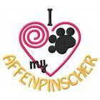 """I """"Heart"""" My Affenpinscher Short-Sleeved T-Shirt 1405-2"""