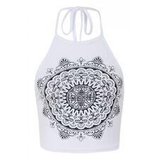 Summer Women Tank Tops Vest Blouse Sleeveless Crop Tee Cami Casual Shirt UK 6-12