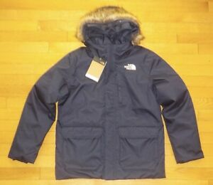 The North Face Girls Greenland Down Parka Jacket Navy Blue M L XL NWT $199