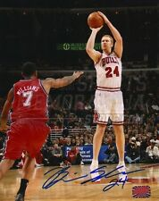 Brian Scalabrine Chicago Bulls Signed Autographed Home Shot 8x10