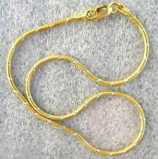 "Italian Made Sterling Silver & Gold Ankle Bracelet 10"""