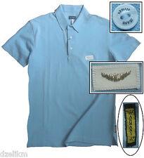NWT Armani Jeans Lightweight Ultra Slim Fit Cotton Short Sleeve Polo Shirt Sz L