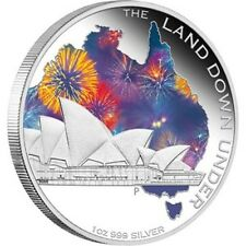 LENT 2013 $1 The Land Down Under Sydney Opera House 1oz Silver Proof Coin