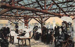H59/ Atlantic City New Jersey Postcard 1919 Under The Arbor Roof Promenade