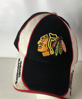 Chicago Blackhawks Hat Cap NHL Spellout Classic Logo Strapback Patch Hockey