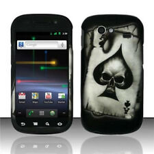For Samsung Nexus S Hard Rubberized Protector Case Snap Phone Cover Spade Skull
