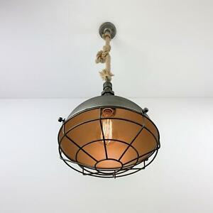 Industrial Pendant Lamp Retro Vintage Edison Rope Shade Ceiling Light