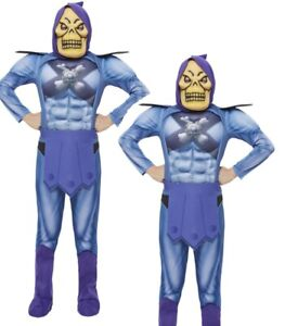 Skeletor Costume with EVA Chest Boys He Man Licensed Fancy Dress Outfit Kids