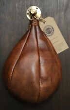 Retro Reborn vintage Tan Leather Inflatable boxing Speed ball