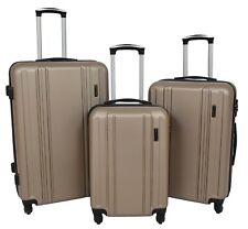 4 Wheel Luggage TAUPE Suitcase Digits Lock ABS Hard Shell Lightweight Travel Bag