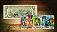27 CLUB WORLD by RENCY Art $2 Bill Signed by Artist #/215 AMY WINEHOUSE Banksy