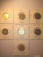 $2 WW1 Set 2012-2019 (7) Australian Coins Set aUNC-UNC Great for New Collectors