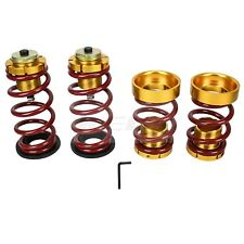 ADJUSTABLE SUSPENSION LOWERING SPRING Hi Low SLEEVE For Civic 12-15 RED GOLD