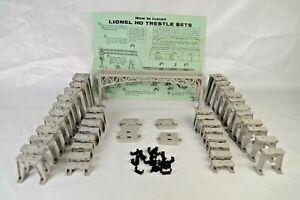 Lionel #110 HO Scale Model Railroad Trestle Set With Instructions Excellent