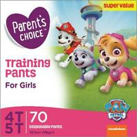 Parents Choice Training Pants for Girls, Size 4T-5T, 70 Count