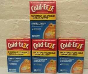 4 ~ Cold-EEZe Shortens Your Cold Works Faster Lozenges 18 Ct Ea. Honey Lemon New