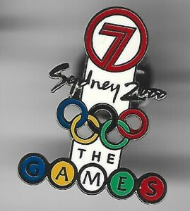 2000 Channel 7 Sydney Olympic Pin Press Media The Games