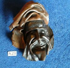 VINTAGE LEATHER FACE MASK WALL HANGING