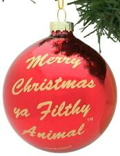 Tree Buddees Merry Christmas Ya Filthy Animal Glass Red Ornament  Home Alone
