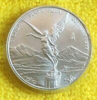 2011 1 oz Silver Libertad 1 Onza Plata Pura Bullion Coin in Capsule MEXICO Coin