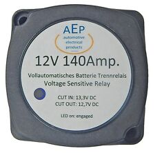 Voltage sensitive Relay 12V 140Amp. Including Mounting material