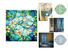 Decorative Privacy Frosted Stained Glass Window Film For Home Bedroom And Office