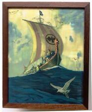 Framed Art Deco Fantasy Ship